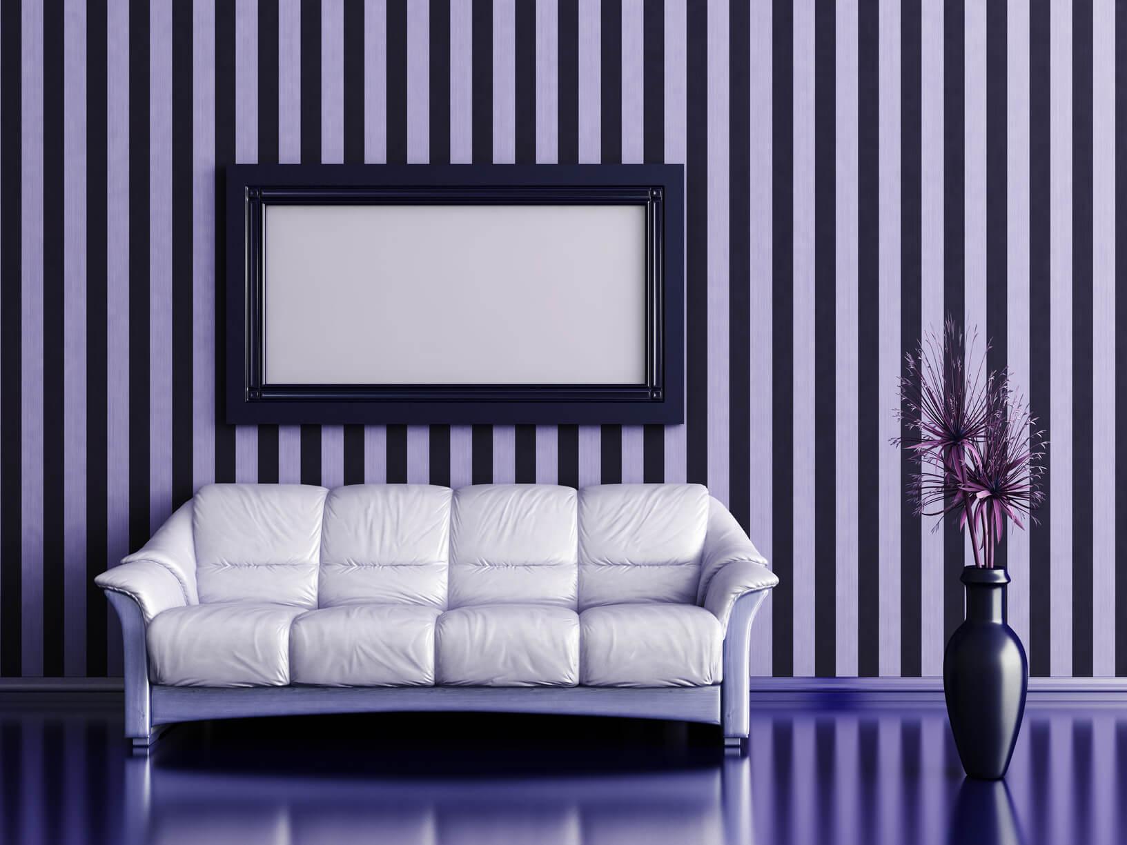 C mo pintar rayas en la pared trucos y consejos como - Disenos para pintar paredes ...