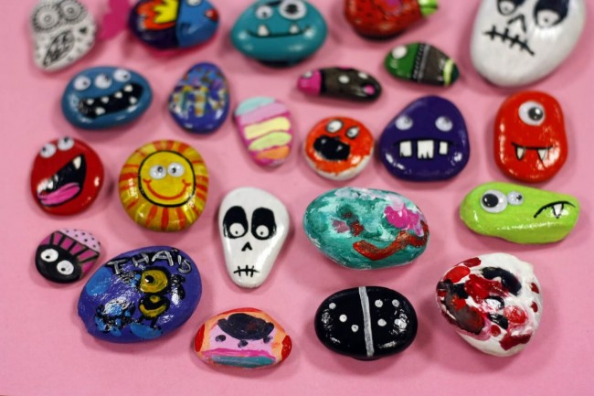 C mo pintar piedras como for Como hacer color piedra