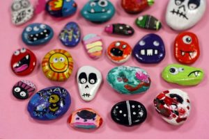 Cómo pintar piedras
