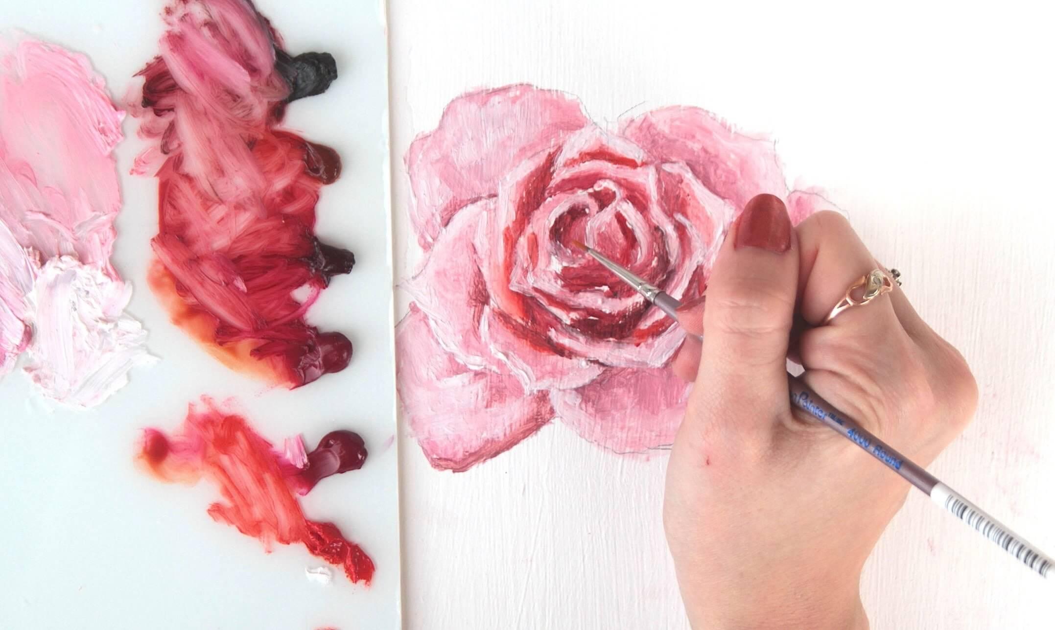 C mo pintar una rosa como - Como secar una rosa ...