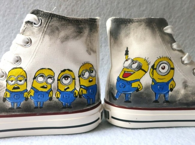 Cómo pintar zapatillas de lona