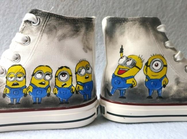 C mo pintar zapatillas de lona como - Como pintar azulejos a mano ...