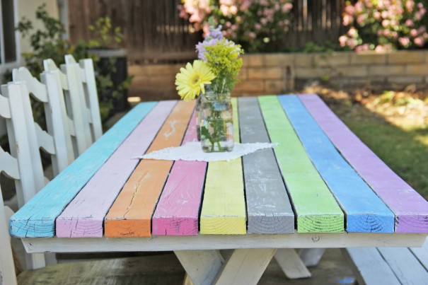 C mo pintar una mesa de madera como - Como pintar una pared ya pintada ...