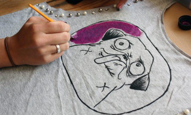C mo pintar camisetas como - Pinturas para pintar camisetas ...