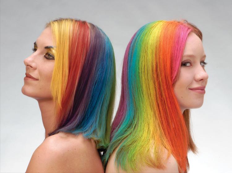 Como pintar el pelo con spray