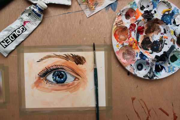 como pintar acrílico