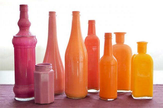 como-pintar-botellas-de-vidrio