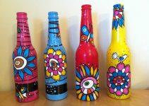 Cómo pintar botellas