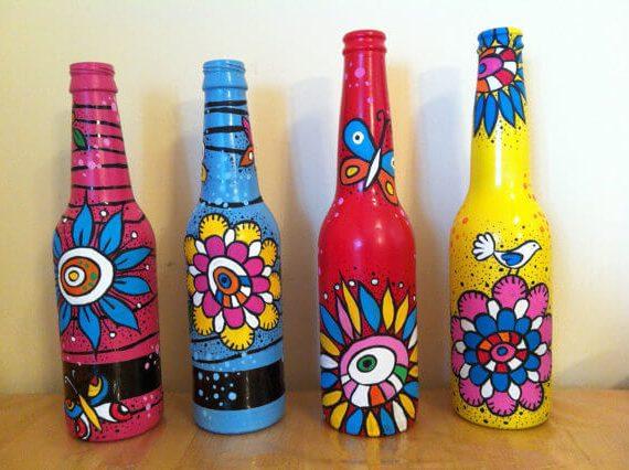 C mo pintar botellas como - Como pintar botellas de plastico ...