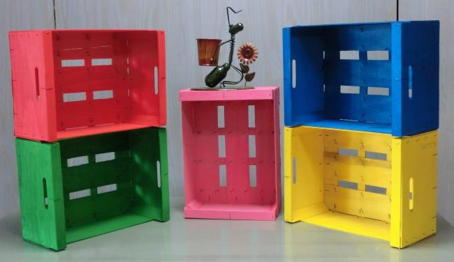 C mo pintar cajas de madera como - Cajas de fruta de madera para decorar ...